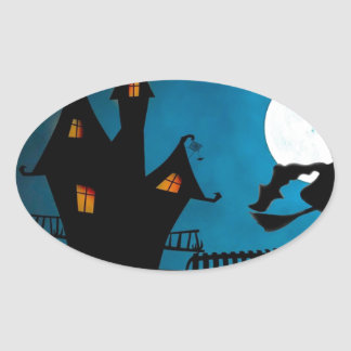 Halloween Helloween Witch's House The Witch Oval Sticker