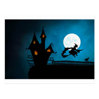 Halloween Helloween Witch's House The Witch Postcard