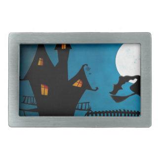 Halloween Helloween Witch's House The Witch Rectangular Belt Buckles