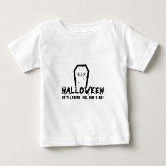 Halloween He's behind Baby T-Shirt