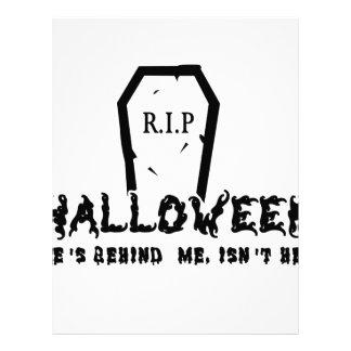 Halloween He's behind Letterhead