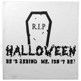 Halloween He's behind Napkin