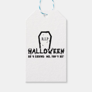 Halloween He's behind Pack Of Gift Tags