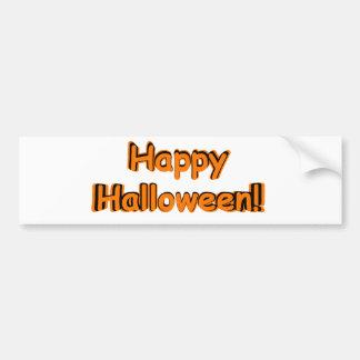 Halloween heureux dans l'orange et le noir autocollant de voiture