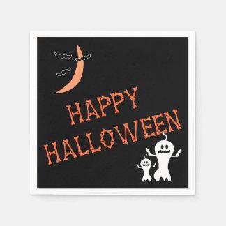 Halloween heureux désosse des serviettes de partie serviette en papier