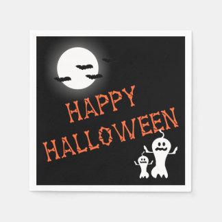 Halloween heureux désosse des serviettes de partie serviettes jetables
