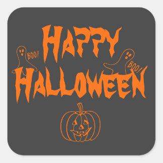 Halloween heureux sticker carré