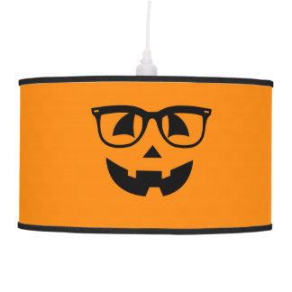 Halloween Hipster Pumpkin Pattern Hanging Pendant Lamp