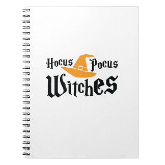 Halloween Hocus Pocus Witches Funny Notebook