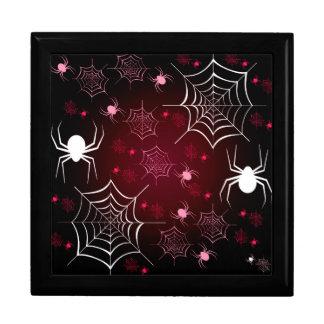 Halloween Holiday Custom Retro Spiders Keepsake Box