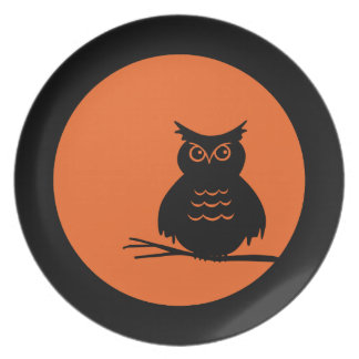 Halloween Hoot Owl Plate