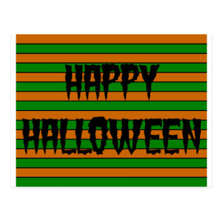 Halloween Horizontal Stripes Postcard