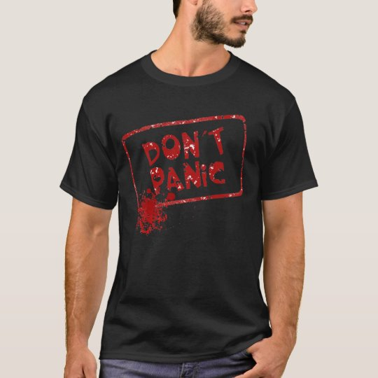 Halloween Horror - Don't Panic (knife) T-Shirt