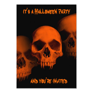 Halloween horror party card