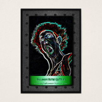 Halloween Horror Supplies - Screaming Person Business Card
