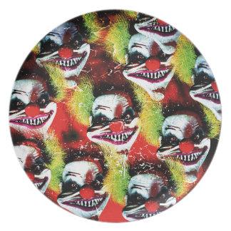 Halloween Horrorclown Collage Plate