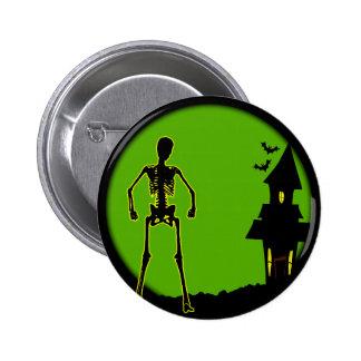 Halloween House 2 Inch Round Button