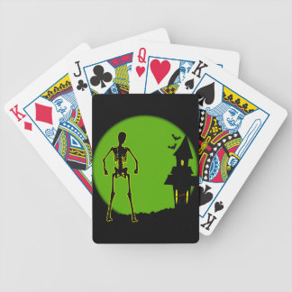 Halloween House Bicycle Playing Cards