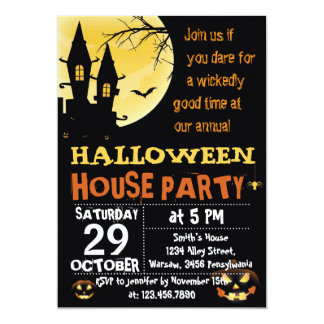 Halloween House Party Invitation
