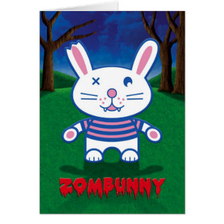 Halloween Humor, Cute Zombie Bunny Rabbit Card