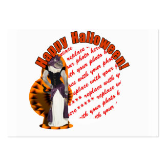 Halloween Hussy / Halloween Cat Photo Frame Business Cards