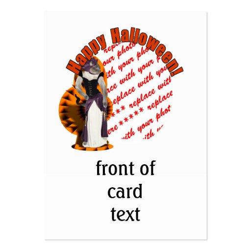 Halloween Hussy / Halloween Cat Photo Frame Business Card Templates