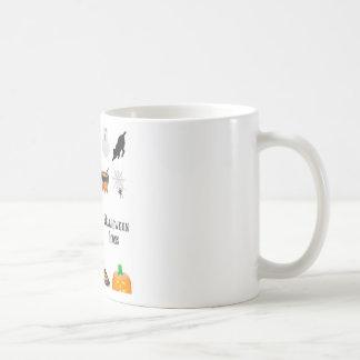 Halloween icon set design coffee mugs