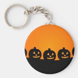 Halloween Illustration Basic Round Button Keychain