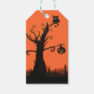 Halloween Illustration Custom Gift Tags Pack Of Gift Tags