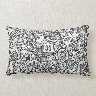 Halloween Illustration Lumbar Pillow
