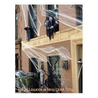 Halloween in New York City, Spider Webs Postcard