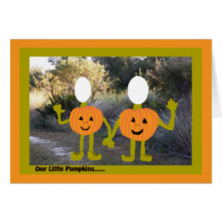 Halloween, Insert Your Photo, Pumpkins Card