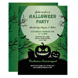 Halloween Invitation Party Pumpkin October Green