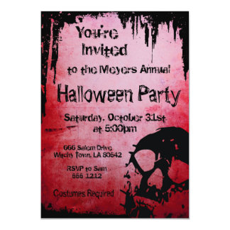 Halloween Invitation with Skull