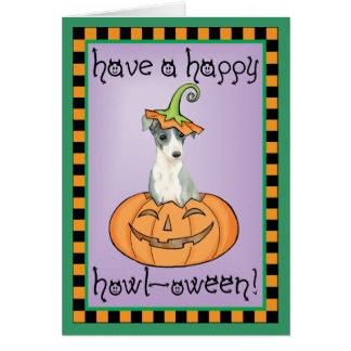 Halloween Italian Greyhound Card