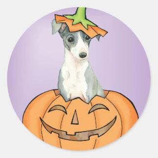 Halloween Italian Greyhound Classic Round Sticker