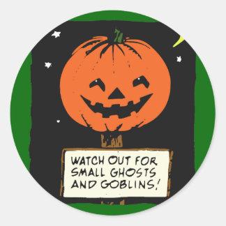Halloween Jack-o -lantern Adhésifs Ronds