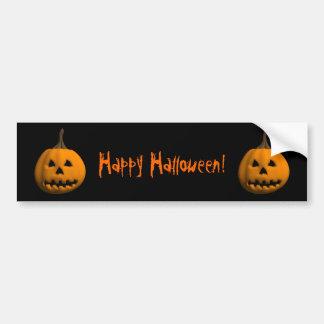 Halloween: Jack-o-Lantern: Bumper Sticker