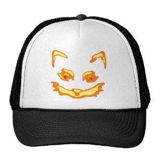 Halloween Jack O Lantern Cat Face Hat