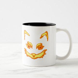 Halloween Jack O Lantern Cat Face Coffee Mugs
