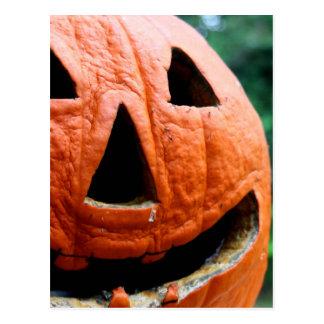 Halloween Jack O Lantern close up Postcard