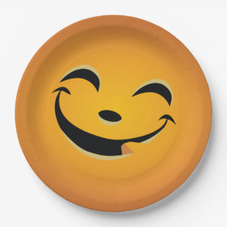 Halloween Jack O Lantern Face 9 Inch Paper Plate 6
