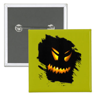 Halloween Jack-O-Lantern Face Button