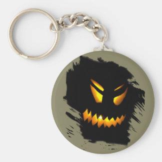 Halloween Jack-O-Lantern Face Keychain