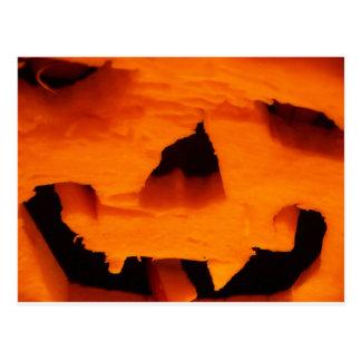 Halloween Jack-O-Lantern Face Postcard