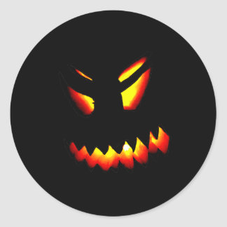 Halloween Jack-O-Lantern Face Sticker