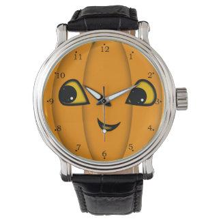 Halloween Jack-o-Lantern Face Wristwatch