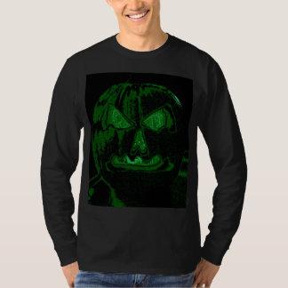 Halloween Jack O Lantern Green/Black T-Shirt