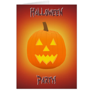 Halloween: Jack-O-Lantern: Invitation Card