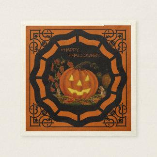 Halloween Jack-O-Lantern napkins